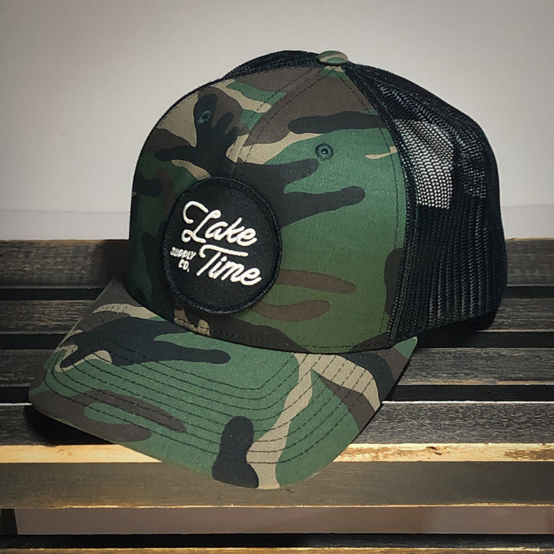 Camo Snapback Trucker Cap - Lake Time Supply Co.