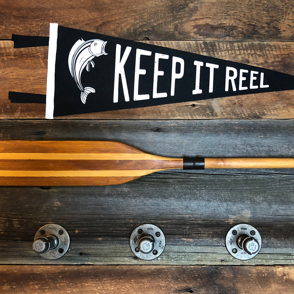 Vintage Felt Pennant - Keep It Reel - Lake Time Supply Co.