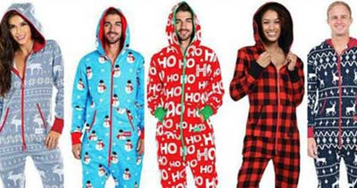 Onsie Christmas Jumpsuits for Men and Women