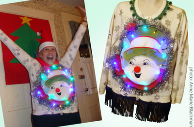How to Make a (winning!) DIY Puffy Frosty Ugly Christmas Sweater
