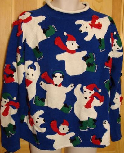 Best Vintage Christmas Sweater from the 80s - Crazy Color and Super Quality