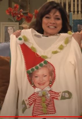 Betty White Christmas Sweater is too Cute to be Ugly