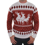 mens ugly christmas sweaters naughty reindeer