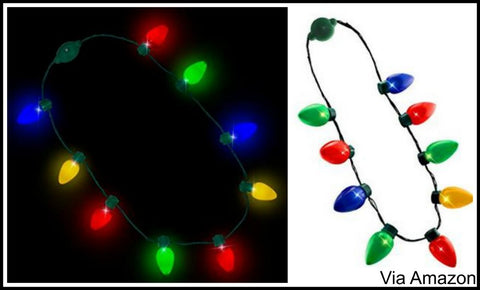 christmas light necklace light up
