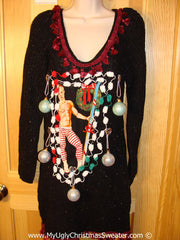 Hottie Ugly Christmas Sweater Dress