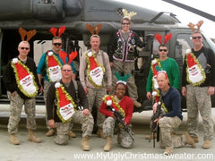 ugly christmas sweater matching sweaters military group