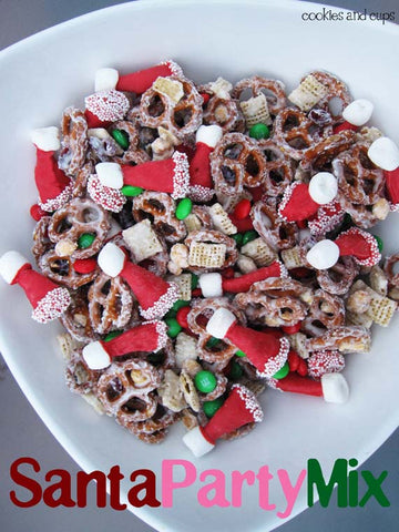 Santa Party Mix - Cookies and Cups