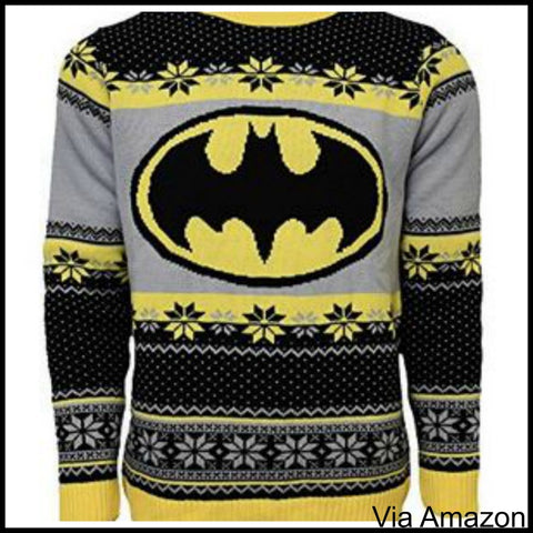 Batman Christmas Sweater.Top 10 Superhero Christmas Sweaters To Ask Santa For This Year