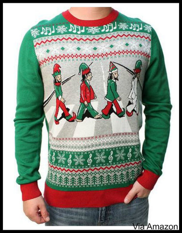 Rock And Roll Bands Christmas Sweaters