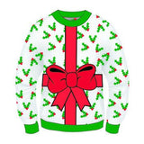 mens ugly christmas sweaters bow