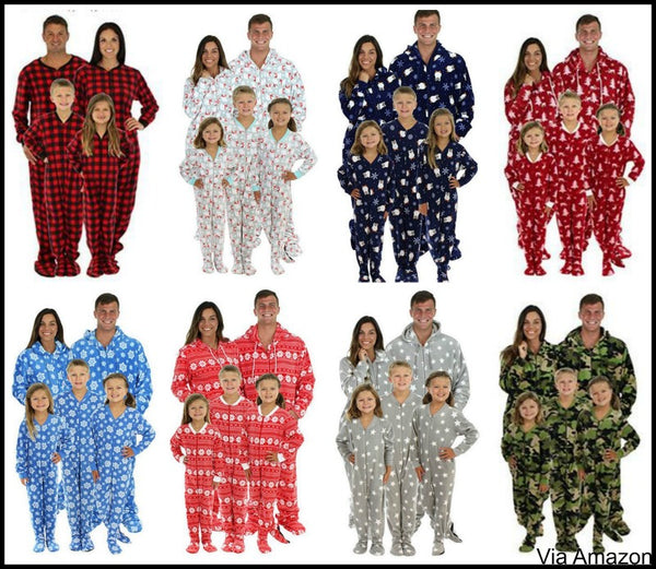 onesie footed christmas pajamas matching family - Matching Pjs Christmas
