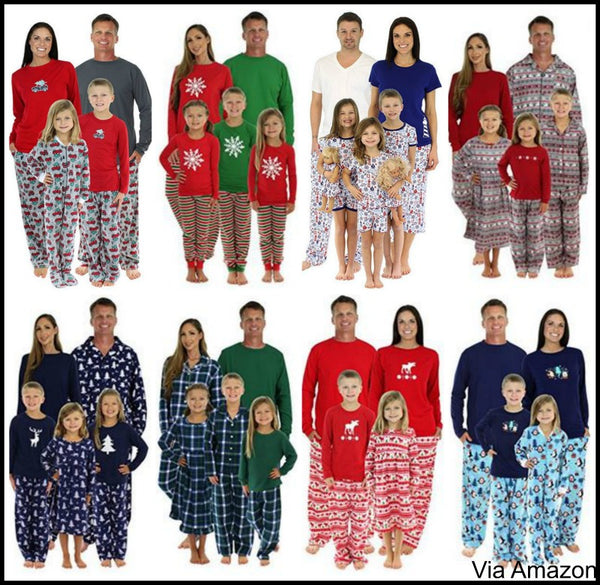 christmas pajamas family set sleepytimepjs
