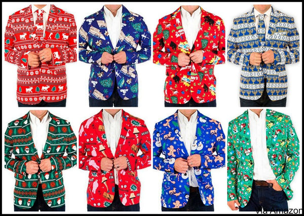 Mens Christmas Suit String of Lights Blazer+Tie and Pants Sold Separately