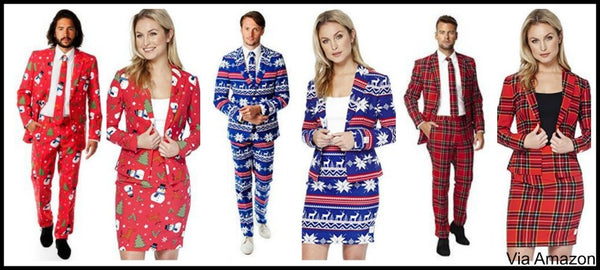 christmas-suits-men-and-women-opposuits-amazon  sc 1 st  Ugly Christmas Sweaters & Matching Couple Christmas Sweaters and Family Matching Sweaters for Gr
