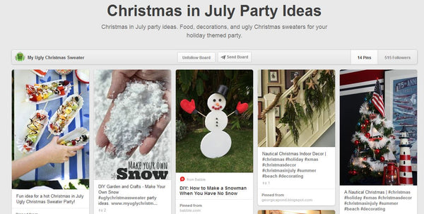 christmas in july idea on pinterest from www.myuglychristmassweater.com ugly christmas sweaters