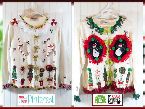 christmas sweater craft off