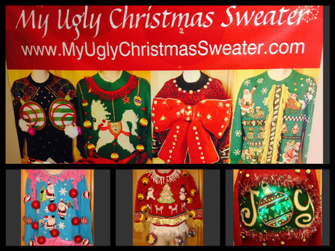 DIY ugly christmas sweaters for sale from www.MyUglyChristmasSweater.com come in womens and mens sizes from XXS to XXXL. Fun and festive, this is the best place to buy #uglyChristmassweaters #uglysweaters #christmas #diy