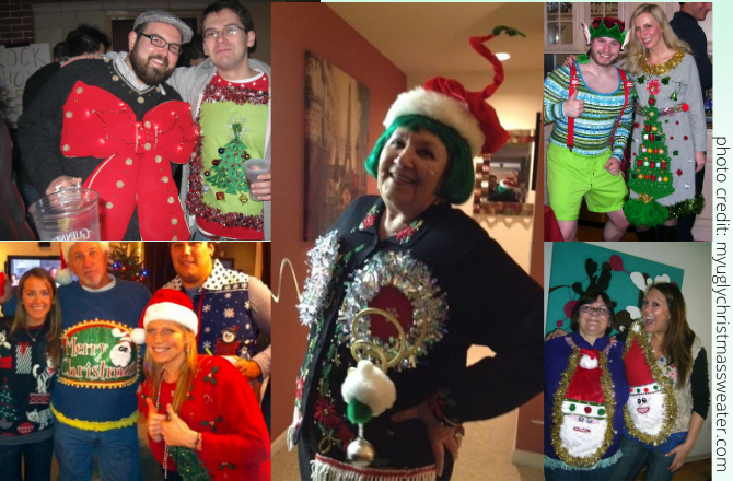 ugly christmas sweater party pictures