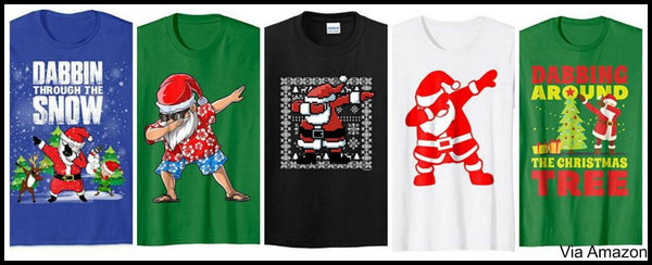 dabbing-santa-through-the-show-christmas-shirts