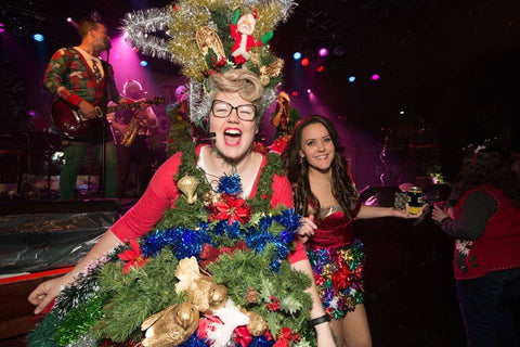 diy-christmas-tree-commodore-ballroom-party - Best DIY Ugly Christmas Sweater Party Outfits Of 2017
