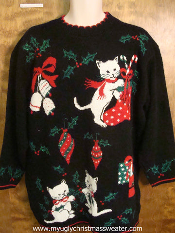vintage cat sweater