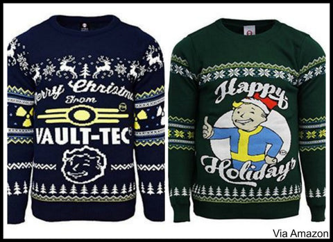 Vault Tec Christmas Sweater.Video Game Themed Christmas Sweaters