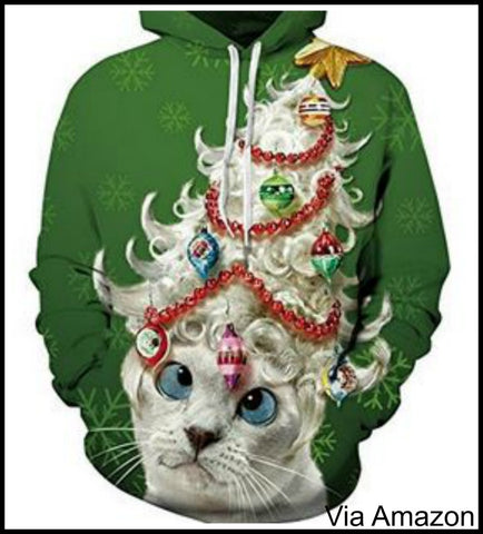 Ugly Christmas Sweater Cat.Cat Themed Christmas Sweaters Mens Womens All Sizes Incl
