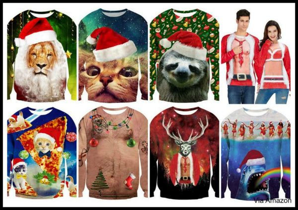 Do It Yourself Christmas Shirts.Ugly Christmas Sweaters Funny Under 20 80s Lights