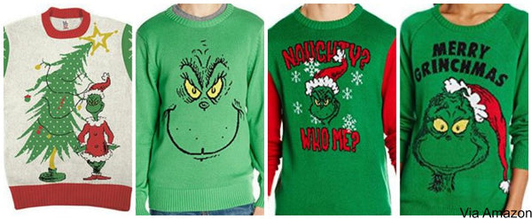 grinch christmas sweaters - Grinch Ugly Christmas Sweater