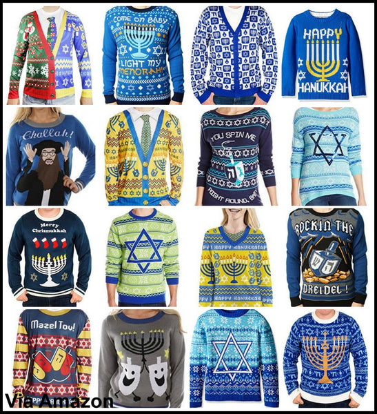 07d860246ad Hanukkah Sweaters and Vests for Men and Women