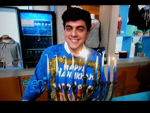 hanukkah sweater on the ellen show