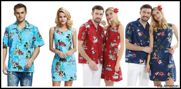 couples-matching-hawaiian-christmas-outfits