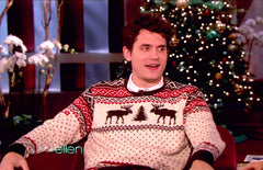 john mayer christmas sweater ralph lauren reindeer