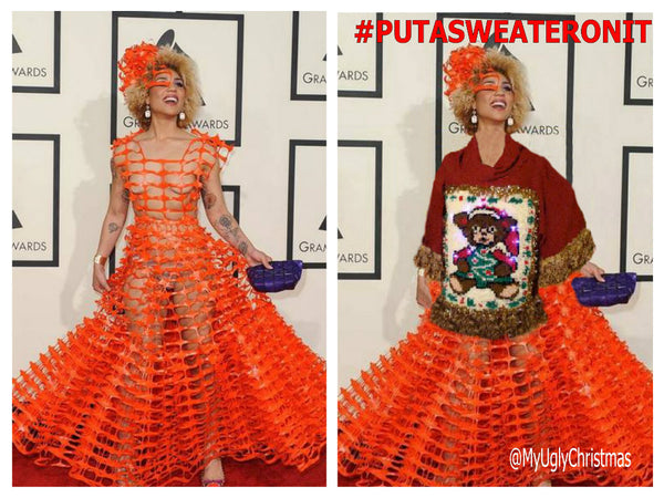joy villa grammy gown 2015 #putasweateronit