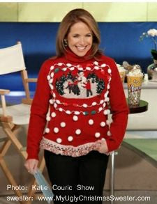 katie couric ugly christmas sweater