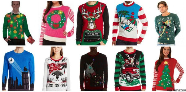 christmas sweaters with lights - Ugly Christmas Sweater Amazon