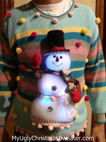 glowing-snowman-christmas-sweater-diy