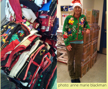 shipping christmas sweater donations to military overseas