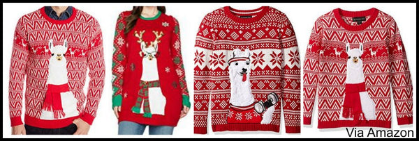 Matching Ugly Christmas Sweaters For Dog And Owner.Matching Couple Christmas Sweaters And Family Matching