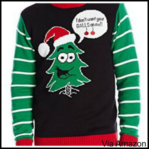 Naughty Christmas Sweaters for Men and Women. Ugly Christmas Sweater ...
