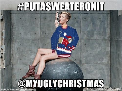 miley cyrus wrecking ball #putasweateronit