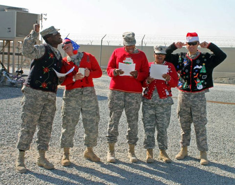 christmas sweater donation to military from myuglychristmassweater