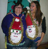 My Ugly Christmas Sweater Wacky Couple Matching Santa