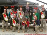 My Ugly Christmas Sweater Wacky Santa Donation to Military