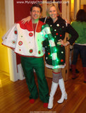 My Ugly Christmas Sweater with Lights Dress Candy Cane