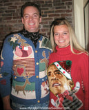 My Ugly Christmas Sweater - Festive Obama Sweater