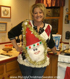 My Ugly Christmas Sweater Wacky Santa 1st Place Winner