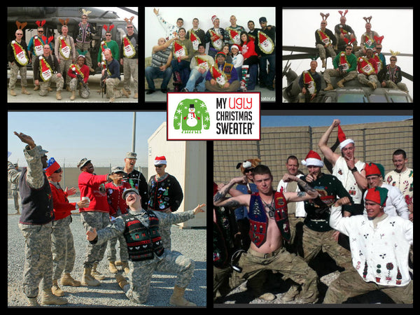 christmas sweater donations to military from my ugly christmas sweater