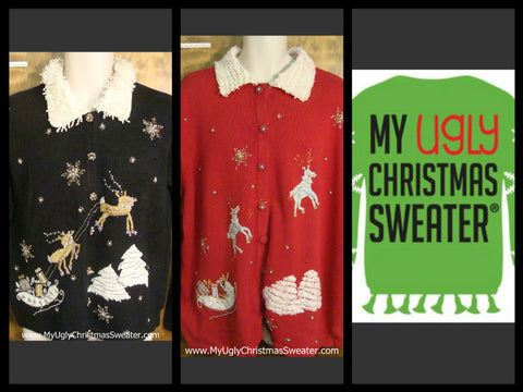 Old school fancy #christmassweaters from www.MyUglyChristmasSweater.com. Most under $35. Fun, festive, and perfect for and Ugly Christmas Sweater party.