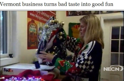 vermont business ugly christmas sweaters